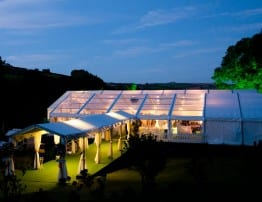 Clear Roof Wedding Marquee Hire