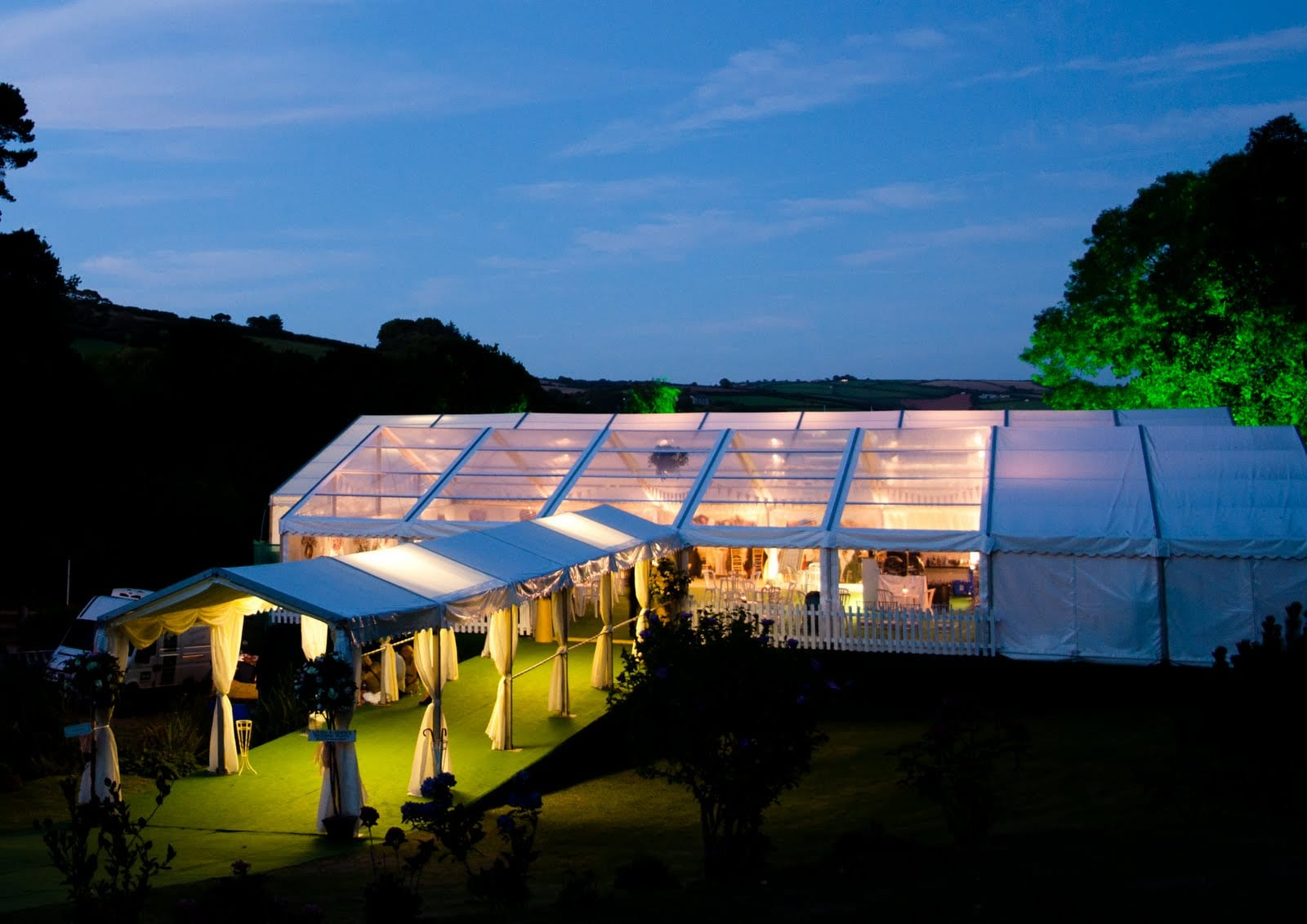 Hatch Marquee Hire Frame And Clear Roof Marquees