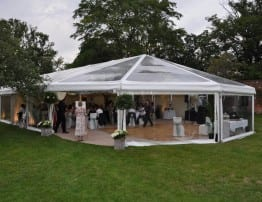 Clear Roof Bell Marquee Hire