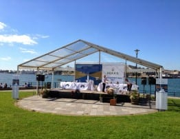 Corporate Event Marquee Hire - Fastnet Race 2013