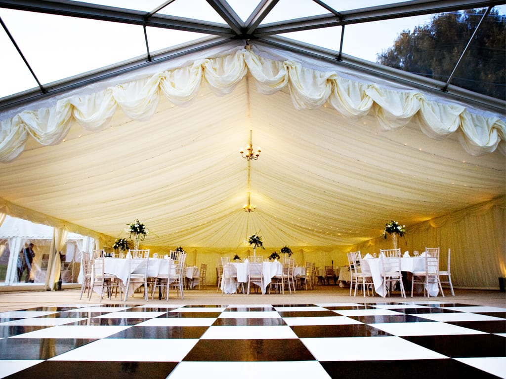 clear span frame marquee hire