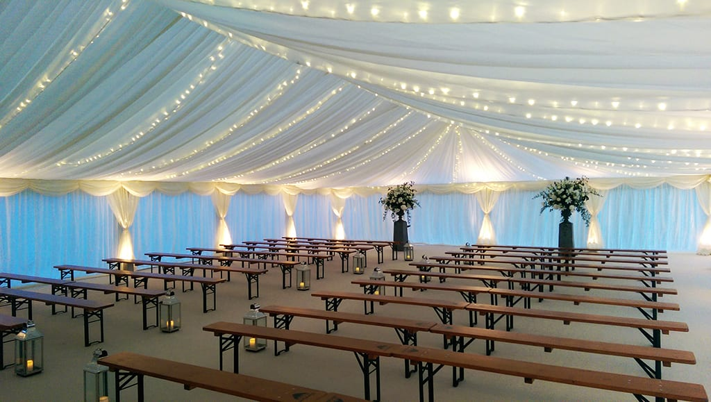 wedding marquee lighting ideas