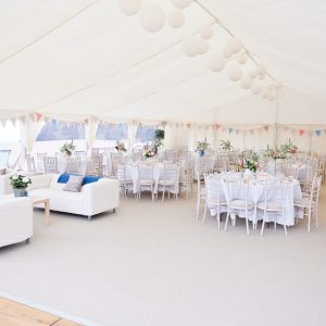 Beach Wedding Marquee Hire by Hatch Marquee Hire