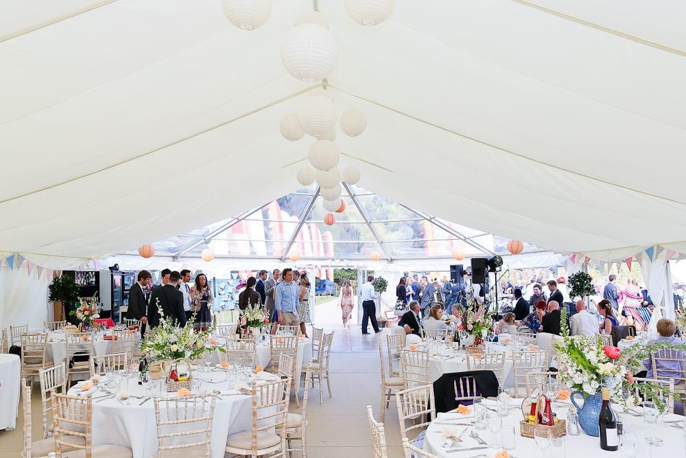Blackpool Sands Beach Marquee Wedding