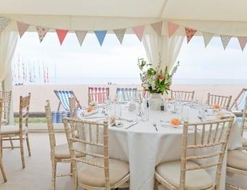 Devon Beach Wedding Marquee by Hatch Marquee Hire