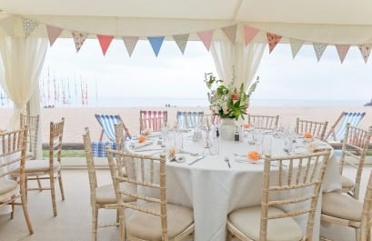 Devon Beach Wedding Marquee by Hatch Marquee Hire
