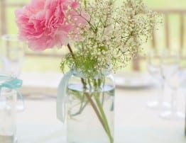 Wedding Flowers and Pebble Name Places