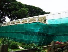 Wedding Marquee built on Scaffold Platform - Hatch Marquee Hire