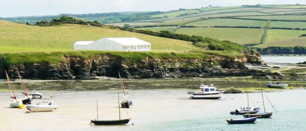 Porthilly Farm, Cornwall Wedding Venue Hatch Marquee Hire