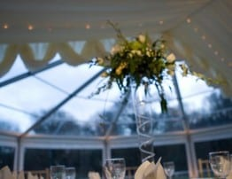 Clear Roof Rounded Marquee End