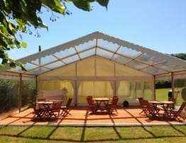Clear Roof Marquee with Decking