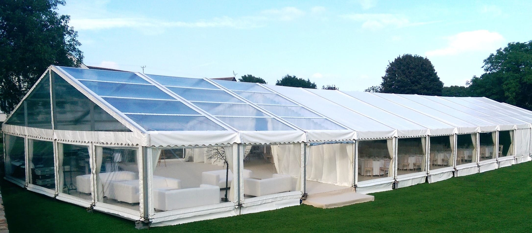 2453; 2461; 2462 & Clear Roof Marquee Hire for Devon Cornwall Dorset and Somerset