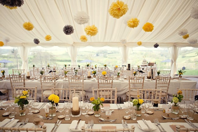 Wedding Marquee Paper Pom Poms