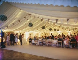 Devon wedding marquee hire