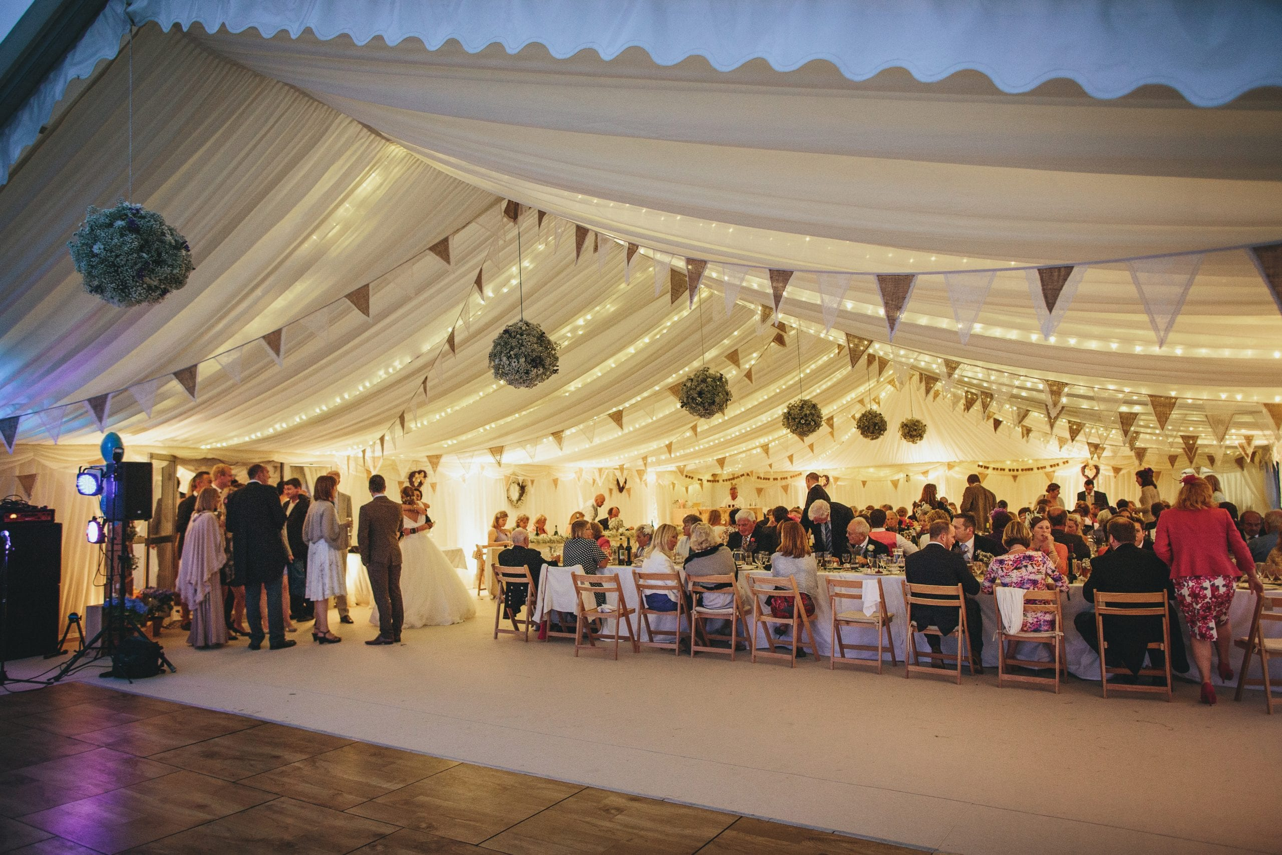 Wedding marquee lighting how to light up your marquee for Indoor marquee decoration