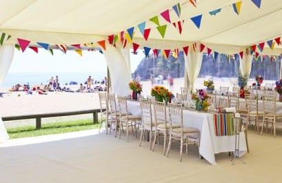 Marquee Beach Wedding Venue Devon