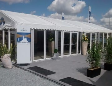 Fully Glazed Corporate Marquee - Rolex Fastnet Race 2015
