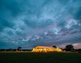Devon Wedding Marquee by Night