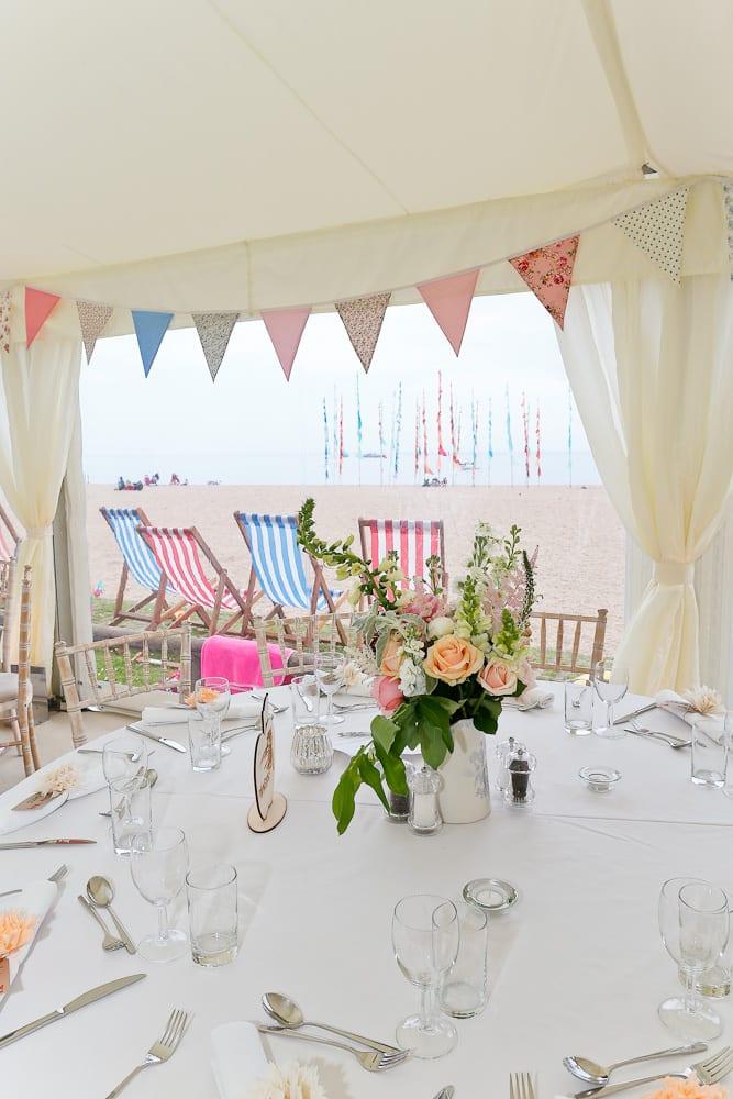 Beautiful Devon Beach Wedding Marquee