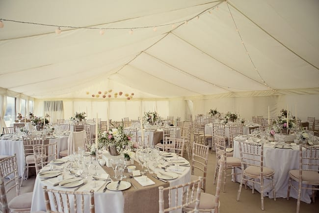 Wedding Marquee with Flat Linings