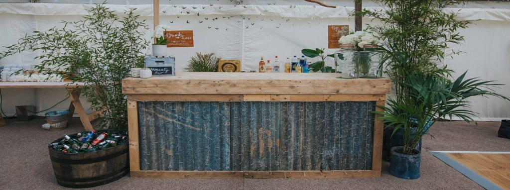 Rustic Bar - Hatch Marquee Hire