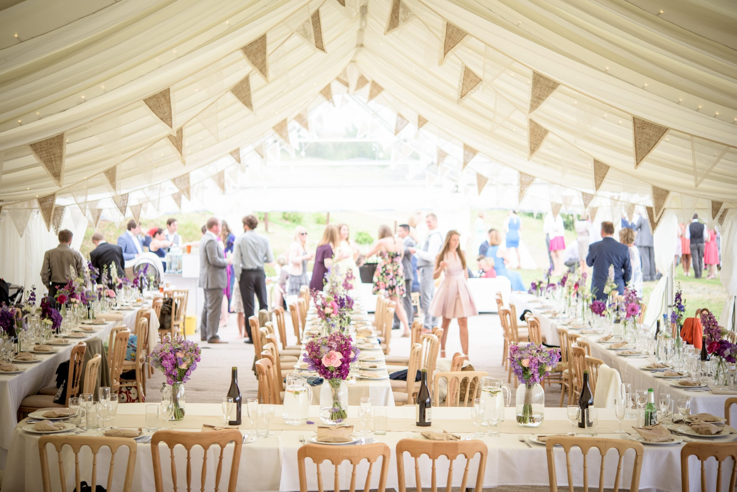 Bunting! Ideas and Tips for your Wedding Marquee.