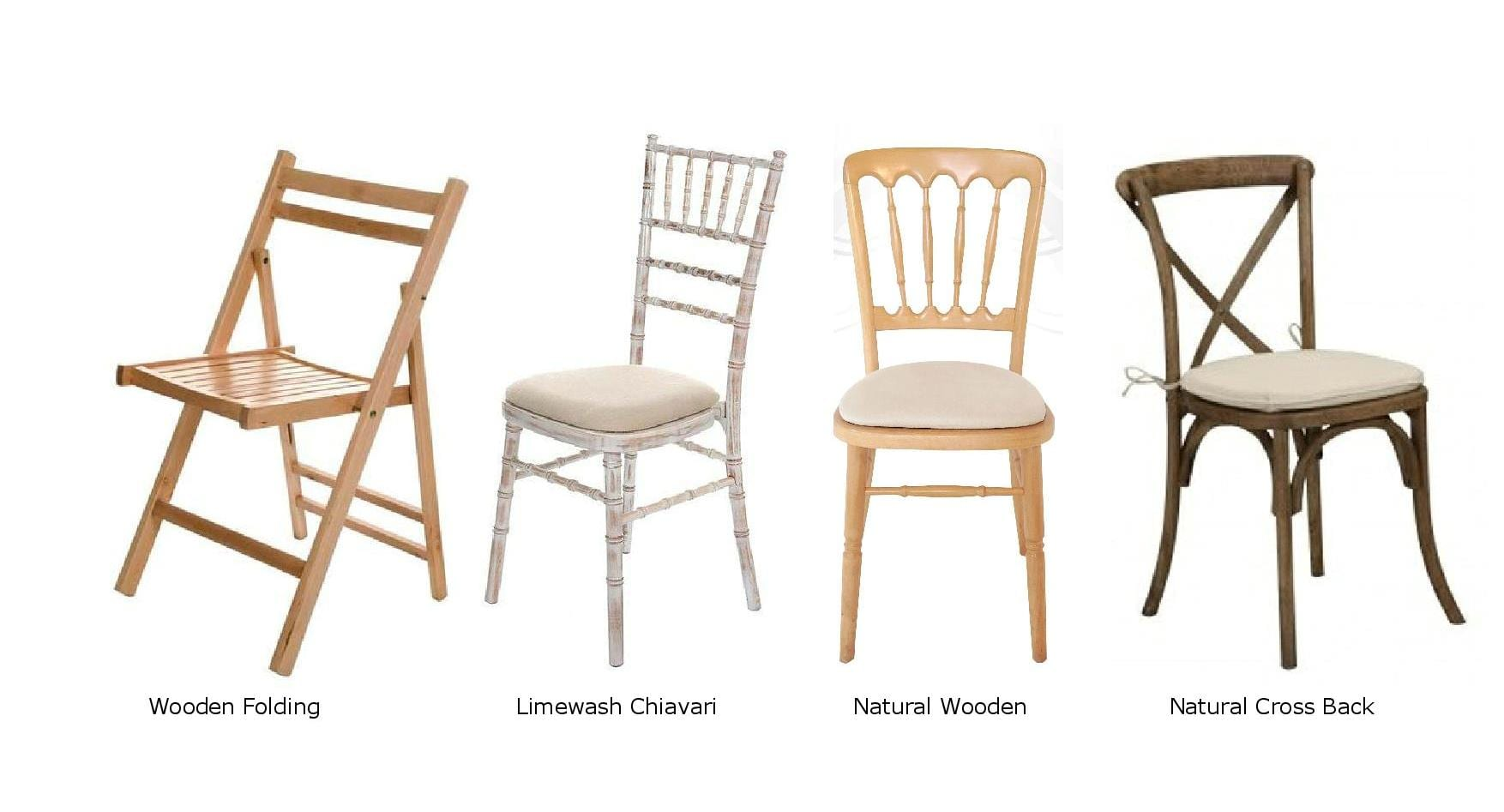 Marquee wedding furniture which chair do you choose