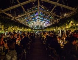 Clear Roof Marquee by Night - Hatch Marquee Hire