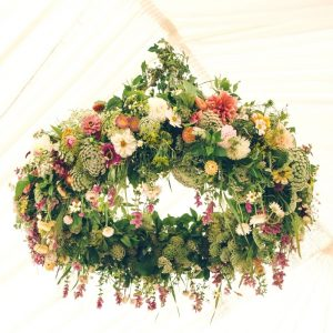 Hanging Flowers Wedding Marquee