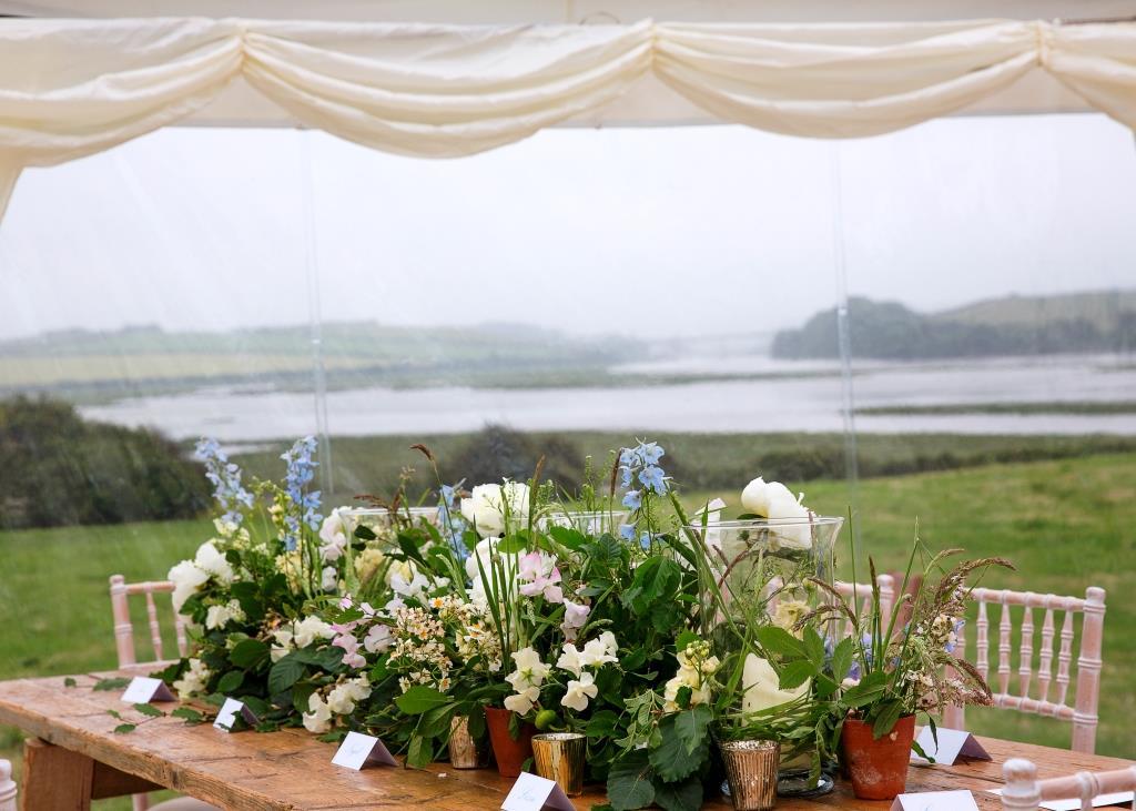 Marquee Wedding Table Decor